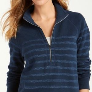 1/4 Zip Stripe Metallic Pullover NWT